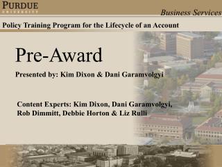 Pre-Award