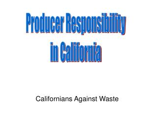 Californians Against Waste