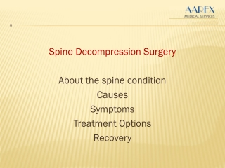 Spine Decompression Surgery