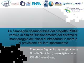 Obbiettivi della Campagna PRIMI
