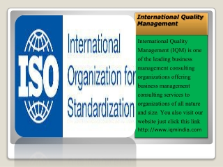 ISO Certification Consultants in Delhi, iso 9001 2008 - IQM