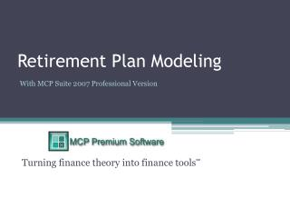 Retirement Plan Modeling