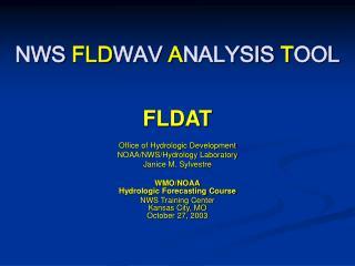 NWS FLDWAV ANALYSIS TOOL