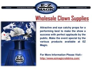 Wholesale Clown Supplies