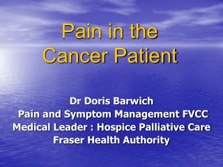 Pain in the