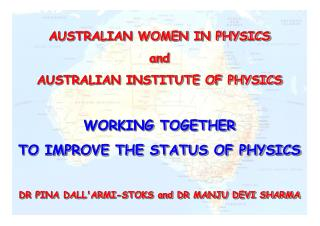 STATUS OF WOMEN IN PHYSICS IN AUSTRALIA