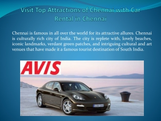 Visit Top Attractions of Chennai with Car Rental in Chennai