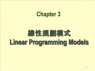 線性規劃模式