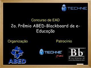 2o. Prêmio ABED-Blackboard de e-Educação