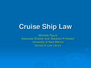 Cruise Ship Law