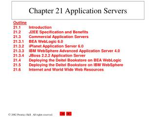 Chapter 21 Application Servers