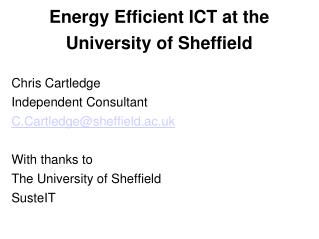 Practical Steps for ICT Electricty Use Improvement