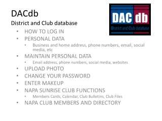DACdb - District and Club Database