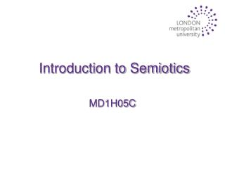 Introduction to Semiotics