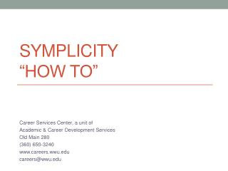 Symplicity