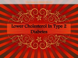 lower cholesterol in type 2 diabetes