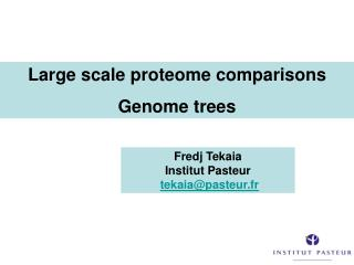 Large scale proteome comparisons