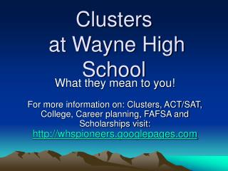 Clusters
