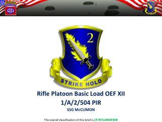 Platoon Leader  96Lbs