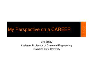 My Perspective on a CAREER