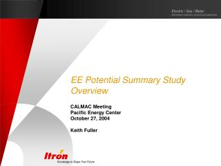 EE Potential Summary Study Overview