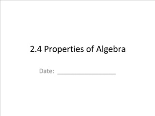 2.4 Properties of Algebra