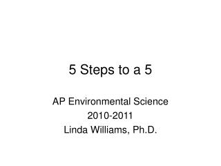 5 Steps to a 5