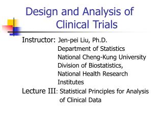 Design and Analysis of 