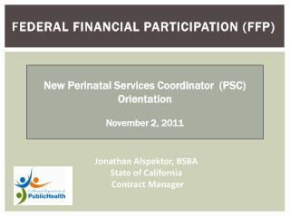Federal Financial Participation (FFP)