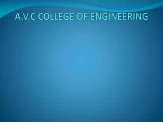 A.V.C COLLEGE OF ENGINEERING