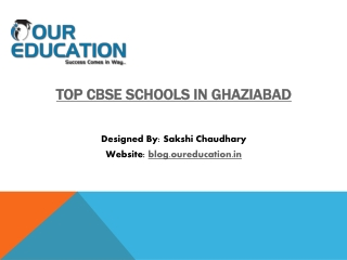 Top CBSE Schools in Ghaziabad