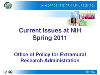 Current Issues at NIH Spring 2011