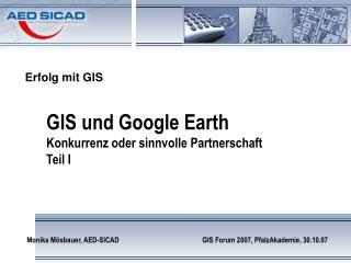 Wunschliste an ein GIS im Web
