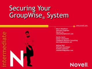 Securing Your GroupWise® System