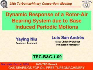 29th Turbomachinery Consortium Meeting