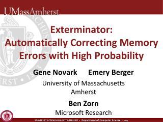 Ben Zorn Microsoft Research