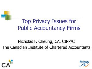 Top Privacy Issues for  Public Accountancy Firms