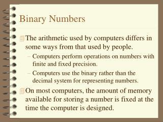 Binary Numbers