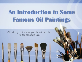 beginners:  famous oil paintings