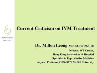 Current Criticism on IVM Treatment