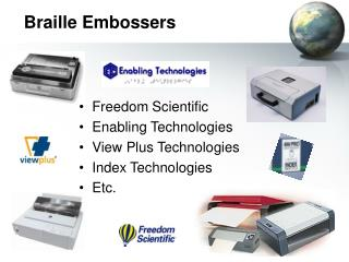 Braille Embossers