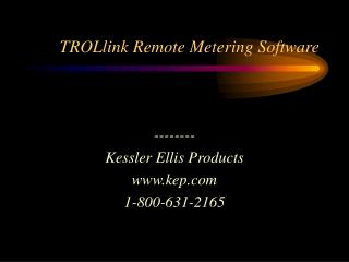 TROLlink Remote Metering Software