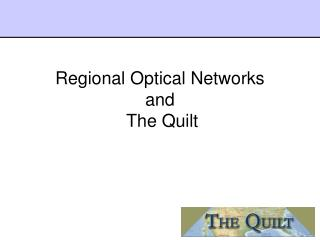 Regional Optical Networks