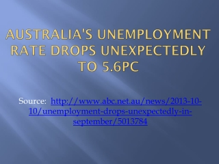 Australia's unemployment rate drops unexpectedly to 5.6pc