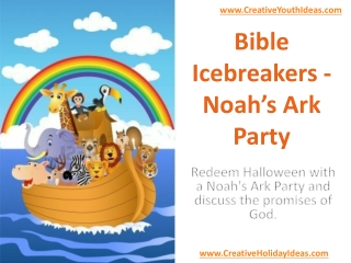 Bible Icebreakers - Noah