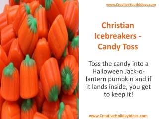 Christian Icebreakers - Candy Toss