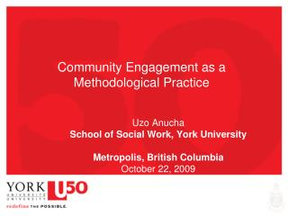 Community Engagement as a Methodological Practice