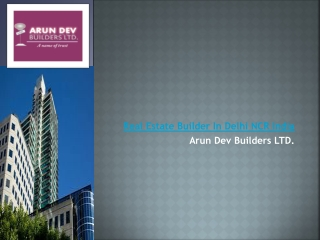 Arun Dev Builders LTD