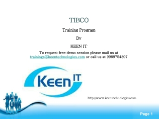 TIBCO Online Training | TIBCO Business Works-www.Keentechnol