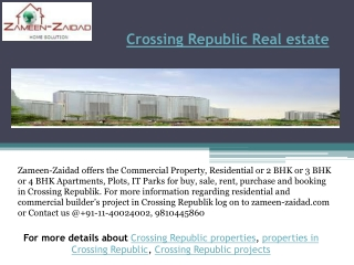 Crossing Republic Real estate